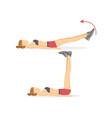leg raises tabata exercises vector image
