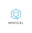 line medicine icon monochrome blue emblem logo vector image vector image