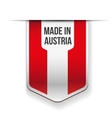 Made in Austria flag ribbon vector image vector image