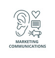 marketing communications line icon linear vector image vector image