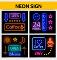 modern digital advertising neon signs concept vector image vector image