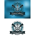 Nautical craftsman emblem vector image vector image