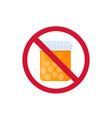 no pills and medicine vector image vector image