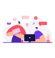 office work concept team partnership modern vector image vector image