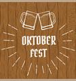 oktober fest logo vector image vector image