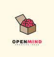 open mind logo vector image vector image