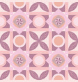 pink geometric square tile seamless pattern vector image