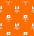 pirate flag pattern orange vector image vector image