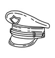 police officer cap icon doodle hand drawn vector image