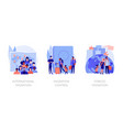 population displacement refugees abstract concept vector image vector image