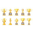 prize victory award realistic 3d symbol trophy cup vector image vector image