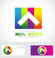 Real estate logo vector image vector image