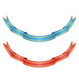Red and blue ribbons vector image vector image