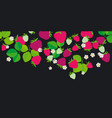 red garden berries in header design element vector image