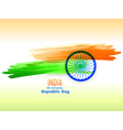 republic day design made with color strokes vector image vector image