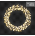 round shiny frame with spark special effect vector image vector image