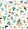 seamless brazilian pattern with symbols brazil vector image vector image