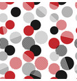 seamless pattern colorful dots and geometric vector image vector image