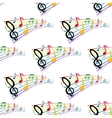 seamless pattern musical notes vector image