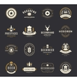 Set Beer Logos Badges and Labels Vintage Style vector image vector image
