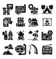 Set icons and symbols for camping and hiking