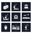 Set of Cargo Icons vector image vector image