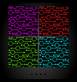 set of dark seamless patterns vector image