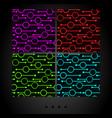 set of dark seamless patterns vector image vector image