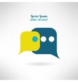 Simple chat icon in modern flat design Internet vector image vector image