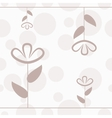 Simple floral seamless pattern with lines flower vector image vector image