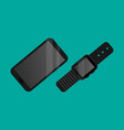 smart technology smartphone and watch vector image vector image