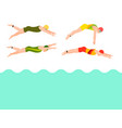 swimming people style scheme different vector image
