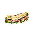 taco mexican fast food traditional tacos vector image