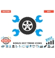 Tire Service Wrenches Flat Icon With 2017 Bonus vector image vector image