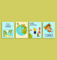 travel vacation summer holidays banners set vector image vector image