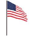 usa flag icon vector image vector image