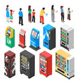 vending machines isometric set vector image vector image
