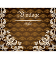 Vintage background with lace pattern vector image vector image