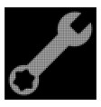 white halftone wrench icon vector image vector image