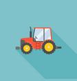tractor icon flat design vector image