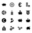 16 coin icons vector image vector image