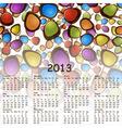 2013 abstract calendar with cartoon schemes of con vector image