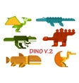 Ancient dinosaurs and reptiles flat icons vector image vector image