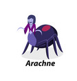 arachne isolated on white in flat art vector image vector image
