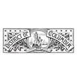 banner washington district columbia vector image vector image