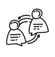 business consulting hand drawn icon design vector image