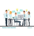 Business professional work team Meeting office vector image vector image