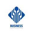 business success logo design development progress vector image vector image