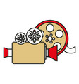 camera cinema isolated icon vector image vector image