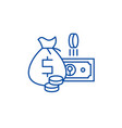 cash money line icon concept cash money flat vector image vector image